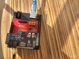 LoRa Infrared Transmitter connected to 9dBi gain antenna